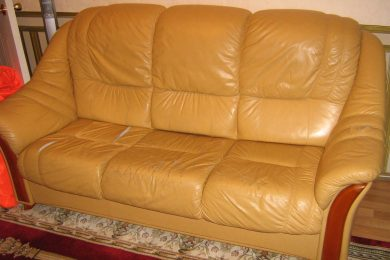 Ремонт кожаной мебели